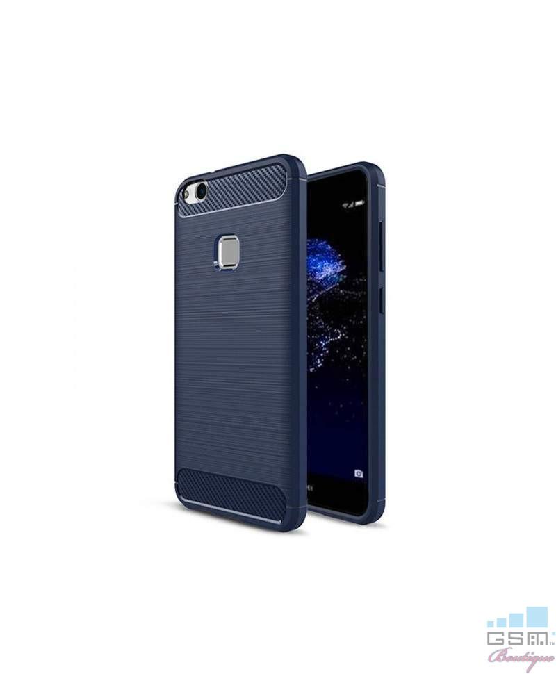 Husa Carbon Fiber Nokia 3 Albastra