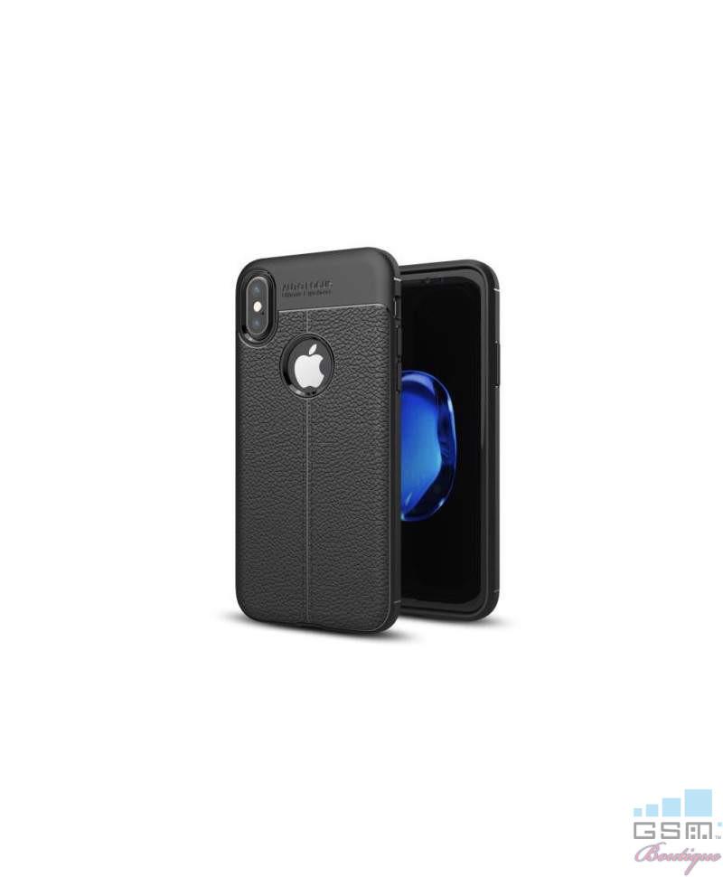 Husa Luxury Soft TPU Lychee Samsung Galaxy J7 (2017) J730 Neagra