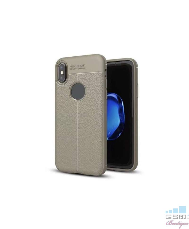 Husa Luxury Soft TPU Lychee Samsung Galaxy J7 (2017) J730 Gri