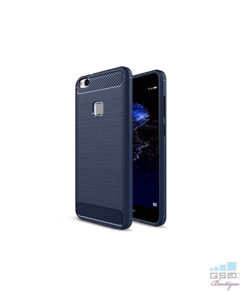 Husa Carbon Fiber Nokia 2 Albastra