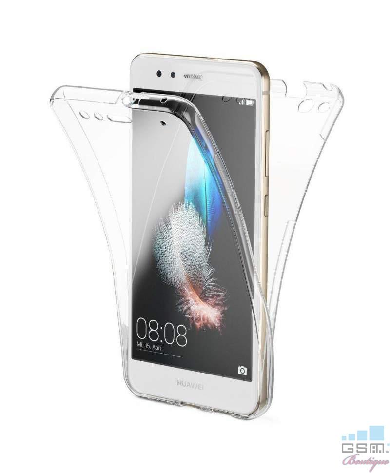Husa Fata + Spate Transparent TPU Huawei P8 lite 2017