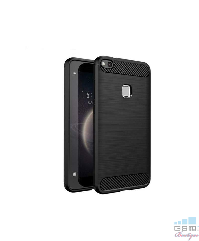 Husa Carbon Fiber Apple Iphone X 5.8 Negru