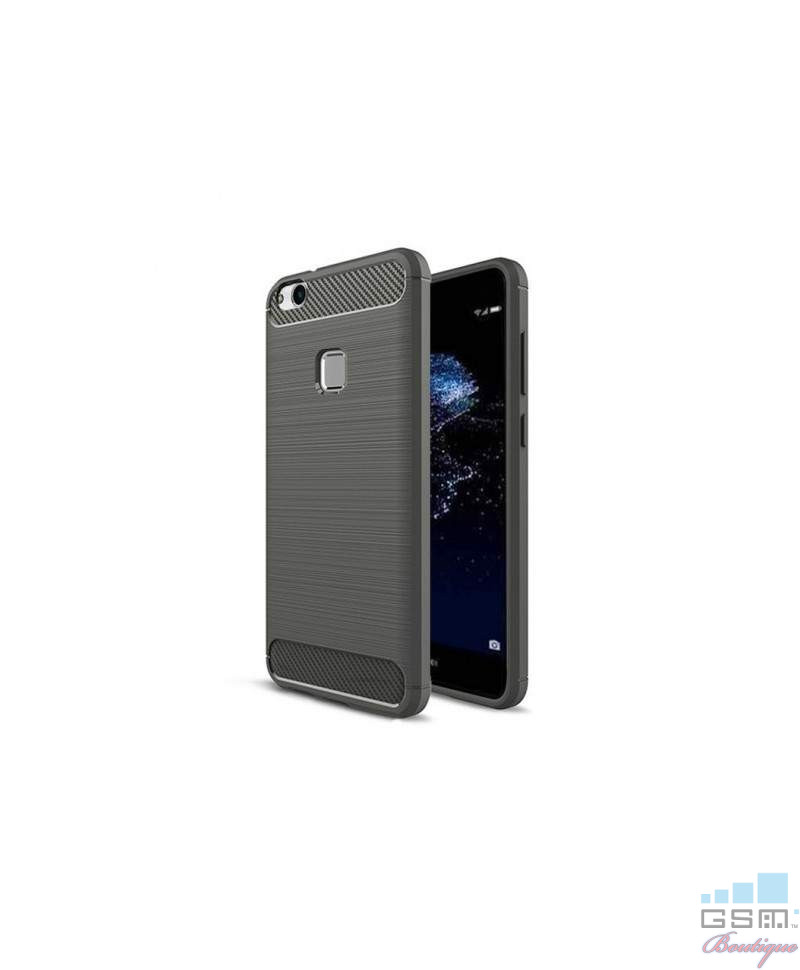 Husa Carbon Fiber Apple Iphone X 5.8 Gri