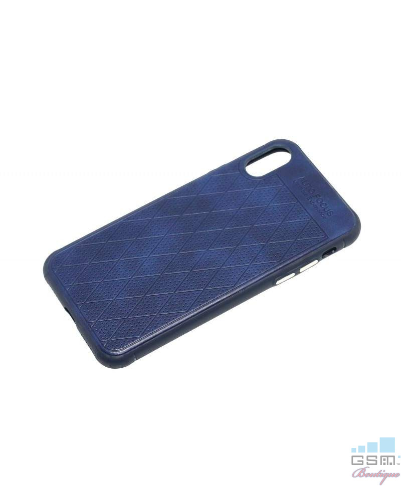 Husa Grid Series Apple Iphone X 5.8 Albastra
