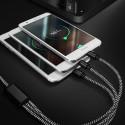Cablu Date Si Incarcare 3 in 1 Micro USB Lightning Si Type C iPhone Samsung Huawei Negru