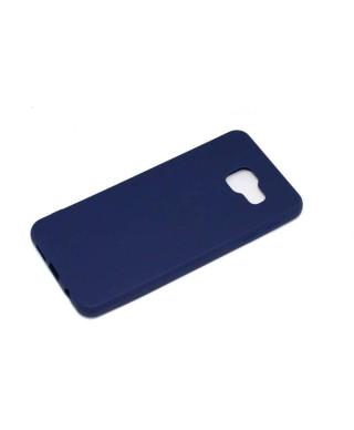 Husa Matt TPU Samsung Galaxy S7 edge G935 Albastra Inchis