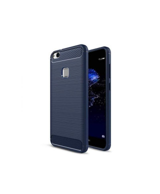Husa Carbon Fiber Samsung Galaxy Note 10 Plus, SM N975F Albastra