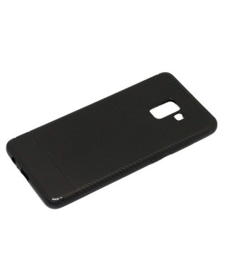 Husa Slim Carbon TPU Samsung Galaxy A8+ (2018) A730 Negru