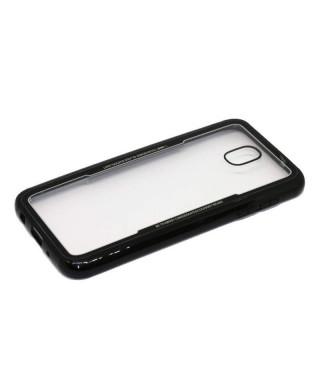 Husa Glass Plastic Case Samsung Galaxy J7 (2017) J730 Neagra