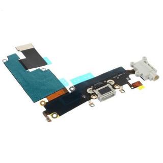 Banda Flex iPhone 6 Plus Cu Conector Incarcare Microfon si Jack Audio Alba Originala