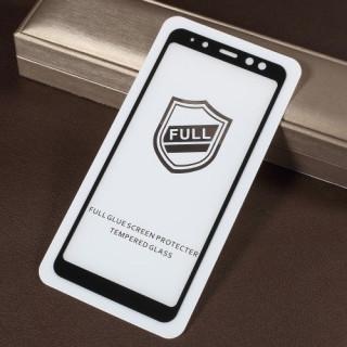Geam Protectie Display Samsung Galaxy A8 2018 Acoperire Completa 2,5D Negru