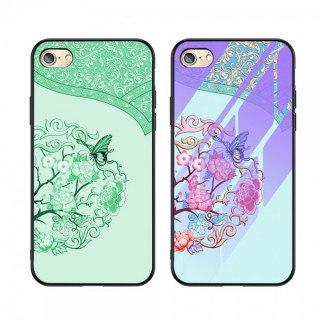 Husa iPhone 6 / 6s Cu Spate Din Sticla Colorata