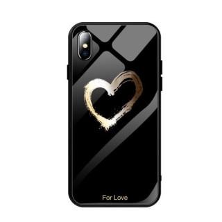 Husa iPhone X Cu Spate Din Sticla Neagra
