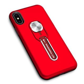 Husa iPhone XS / X Dura Cu Suport Rosie