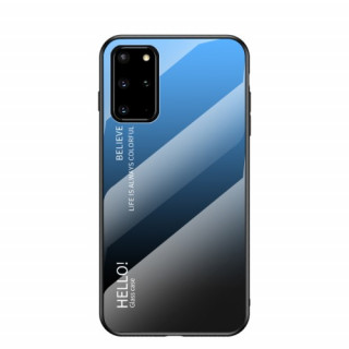 Husa Samsung Galaxy S20 Plus Cu Spate Din Sticla Albastra
