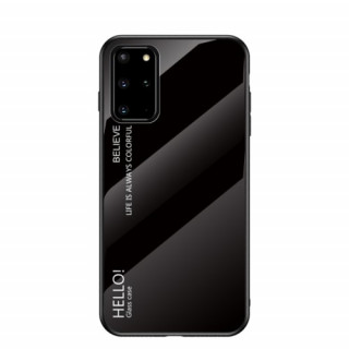 Husa Samsung Galaxy S20 Plus Cu Spate Din Sticla Neagra