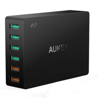Incarcator rapid Aukey PA-T11, 6 sloturi USB 3,0, negru