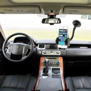 Suport auto 2 in 1 Universal Samsung iPhone Nokia LG BlackBerry 47-100 mm Negru