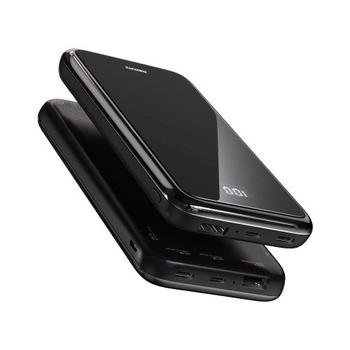 Acumulator Extern Cu Incarcare Wireless Samsung Huawei iPhone LG Asus Power Bank 10000mAh Negru